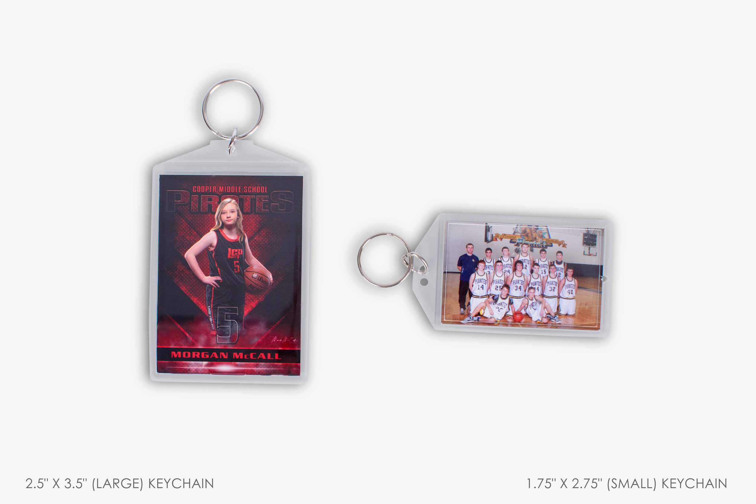 School and Sports Photo Keychain