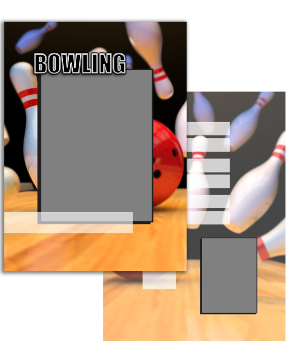 Sports Specific Bowling Press Printed Trading Cards
