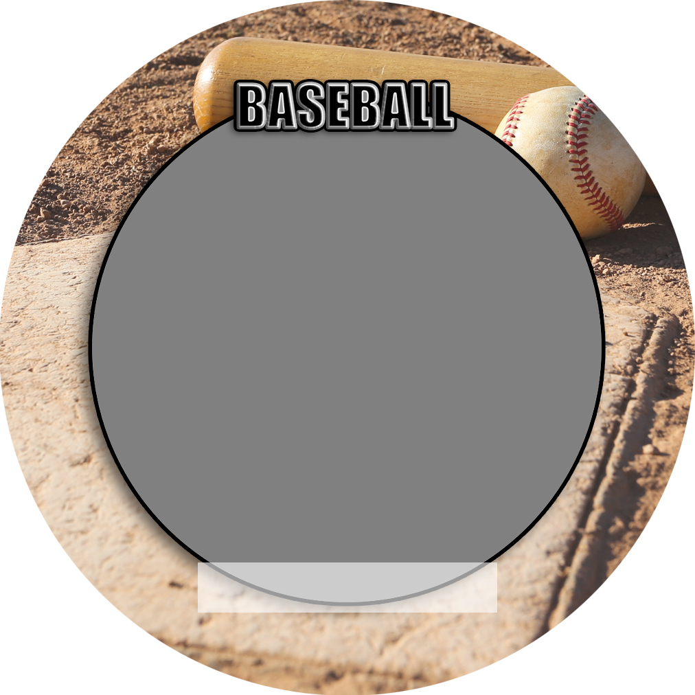 """Sports Baseball Specific 3"""" Round Magnet and Button"""