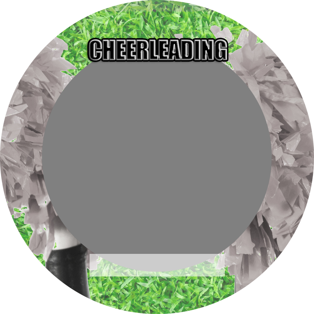 """Sports Baseball Specific Cheerleading 3"""" Round Magnet and Button"""