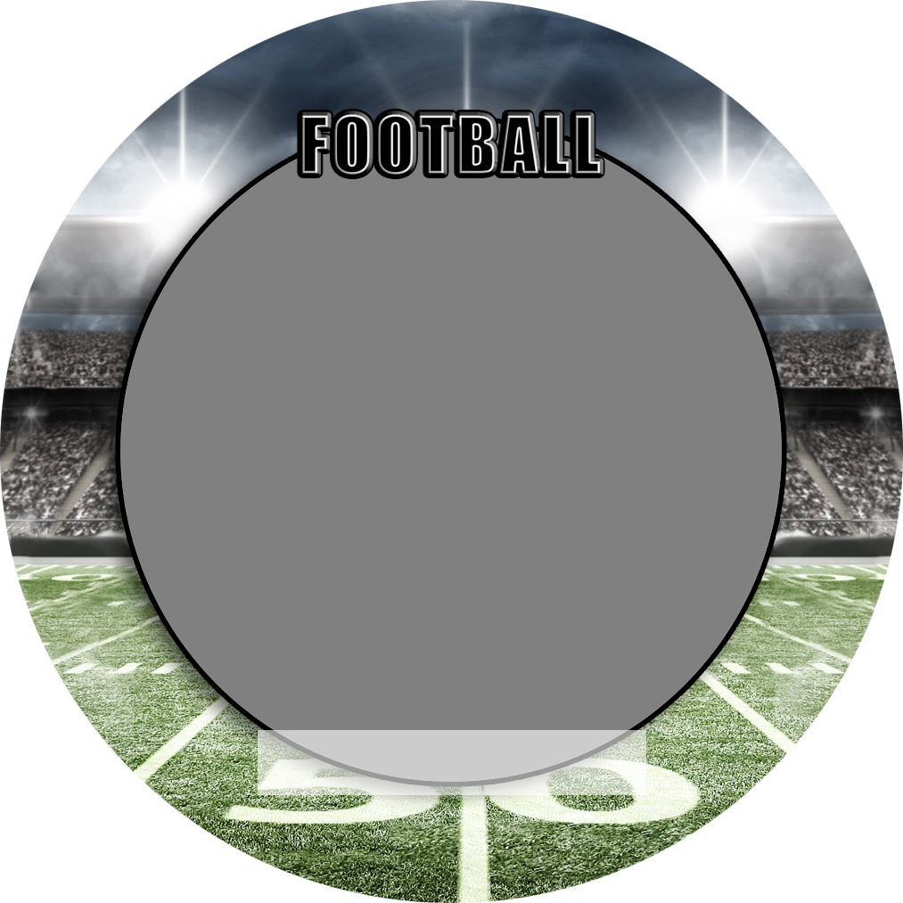 """Sports Baseball Specific Football 3"""" Round Magnet and Button"""