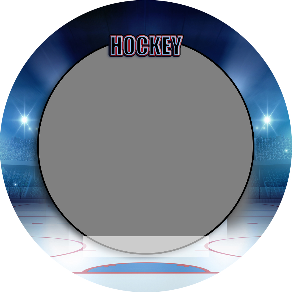 """Sports Baseball Specific Hockey 3"""" Round Magnet and Button"""