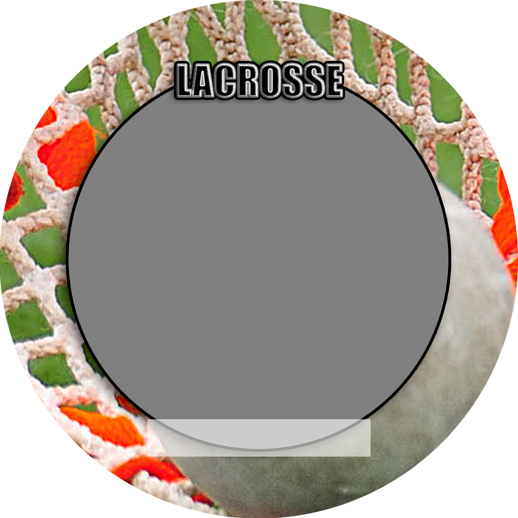 """Sports Baseball Specific Lacrosse 3"""" Round Magnet and Button"""