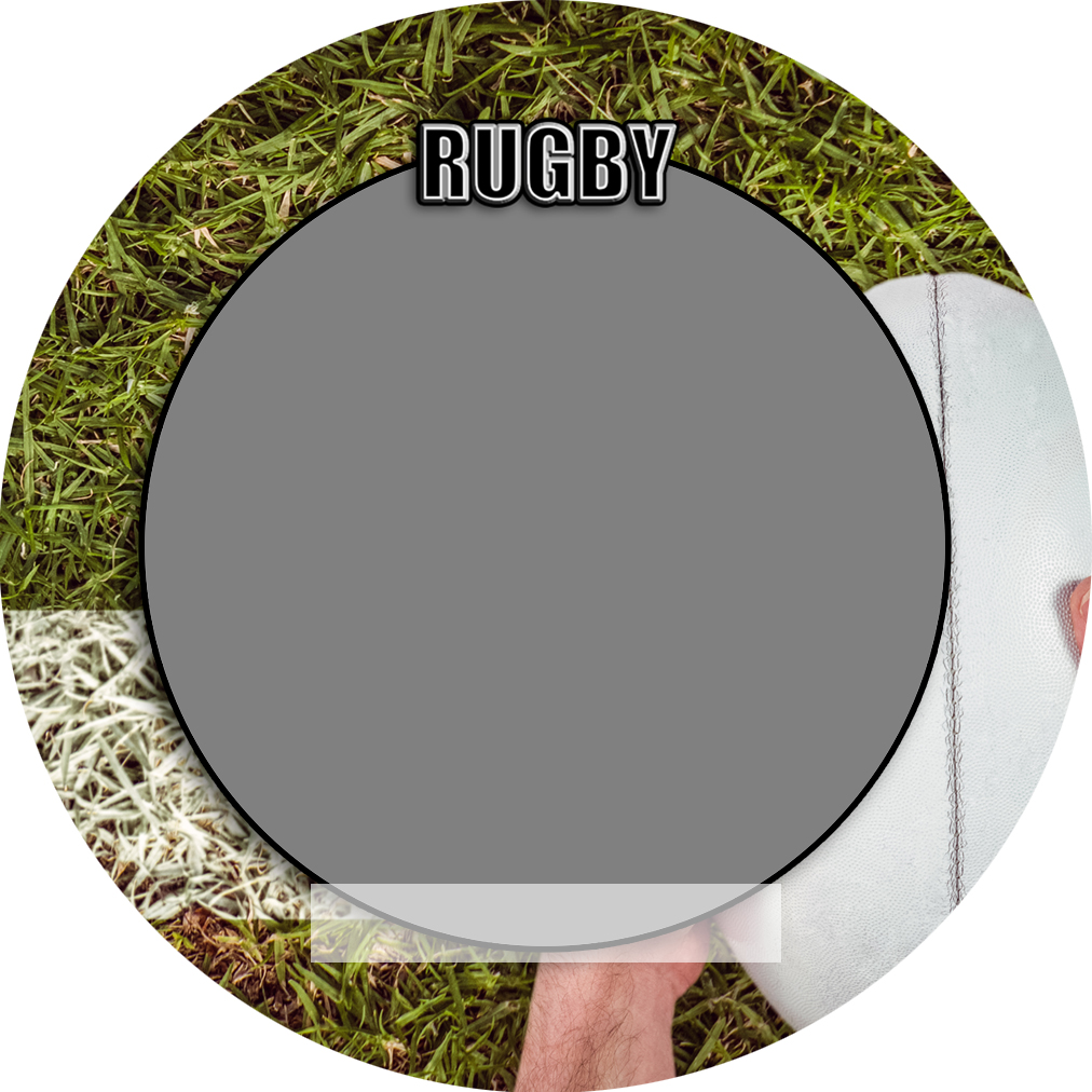 """Sports Baseball Specific Rugby 3"""" Round Magnet and Button"""