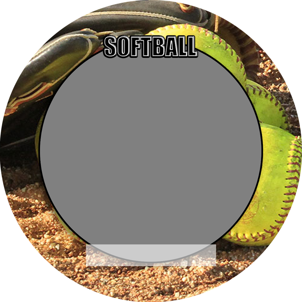 """Sports Baseball Specific Softball 3"""" Round Magnet and Button"""