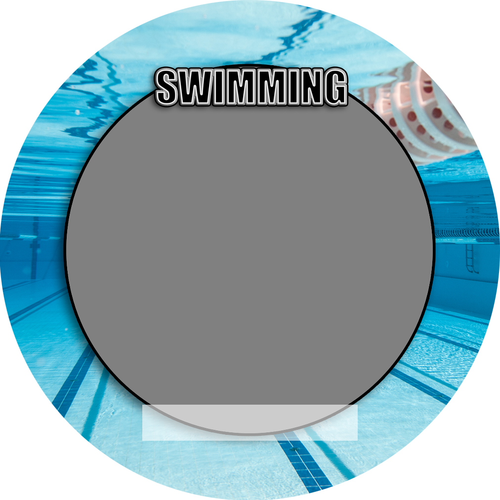 """Sports Baseball Specific Swimming 3"""" Round Magnet and Button"""