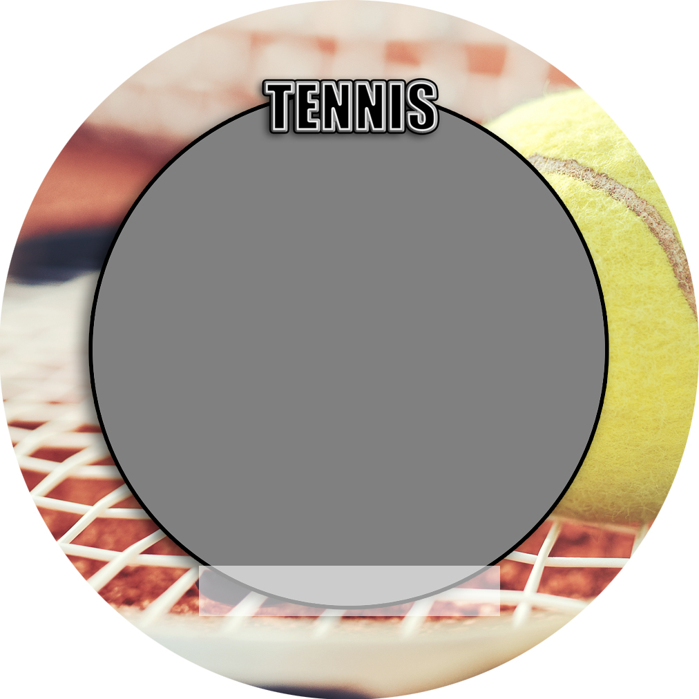 """Sports Baseball Specific Tennis 3"""" Round Magnet and Button"""