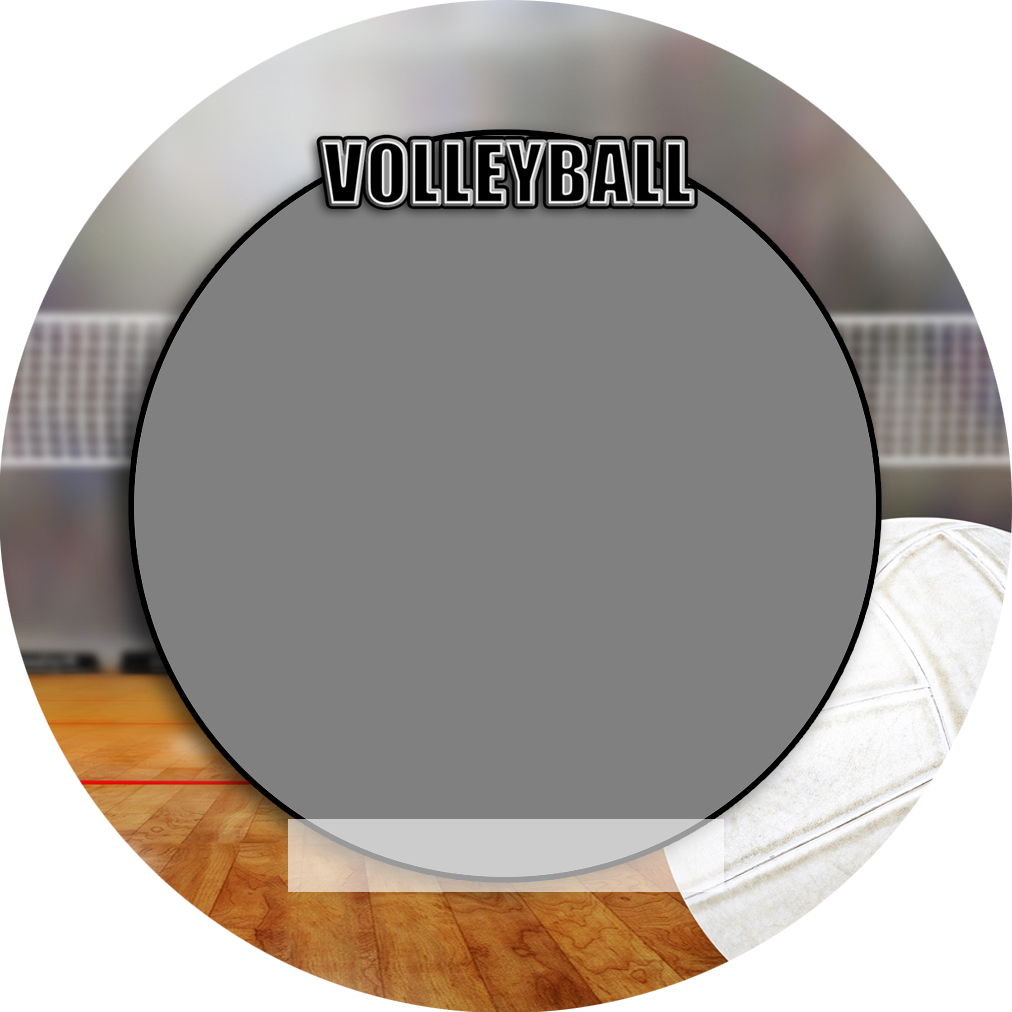 """Sports Baseball Specific Volleyball 3"""" Round Magnet and Button"""