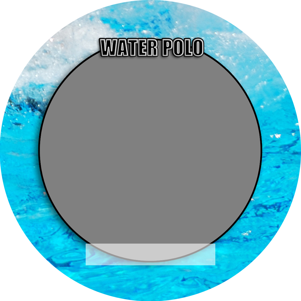 """Sports Baseball Specific Water Polo 3"""" Round Magnet and Button"""