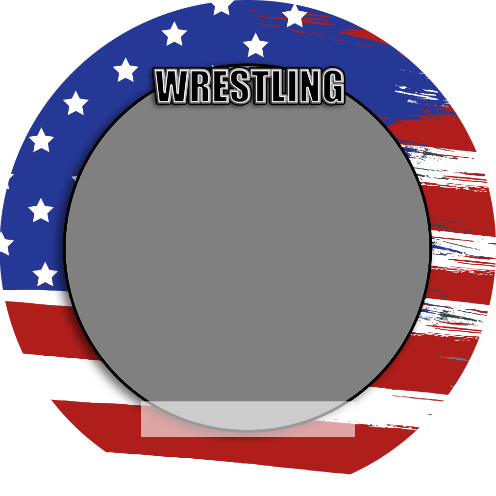 """Sports Baseball Specific Wrestling 3"""" Round Magnet and Button"""