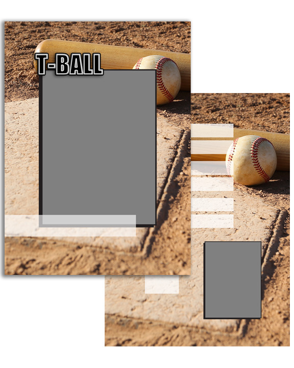 Sports Specific Tball T-Ball Press Printed Trading Cards