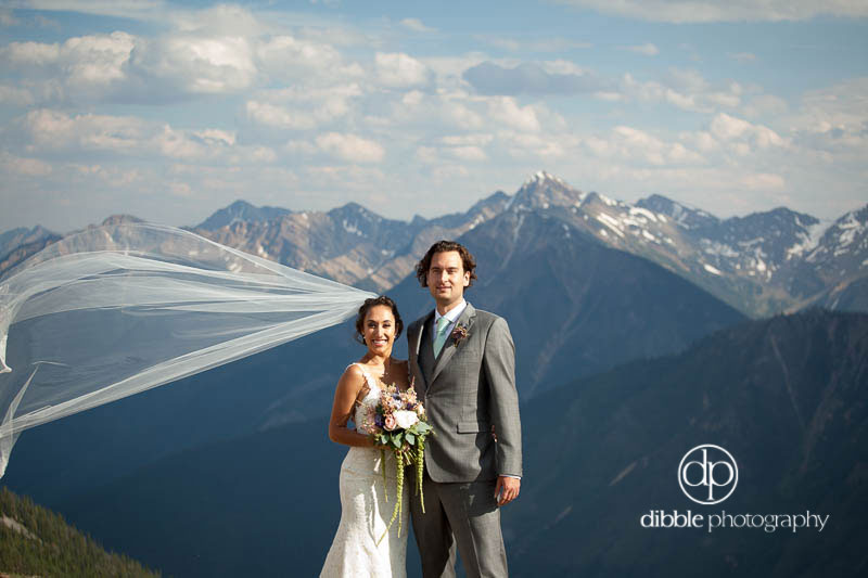 Mountaintop Wedding Portrait