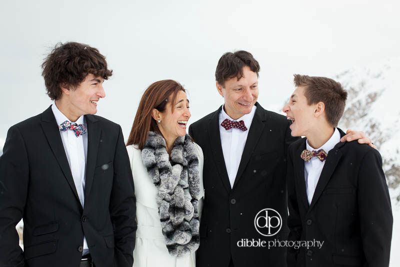 outdoor formal family portrait