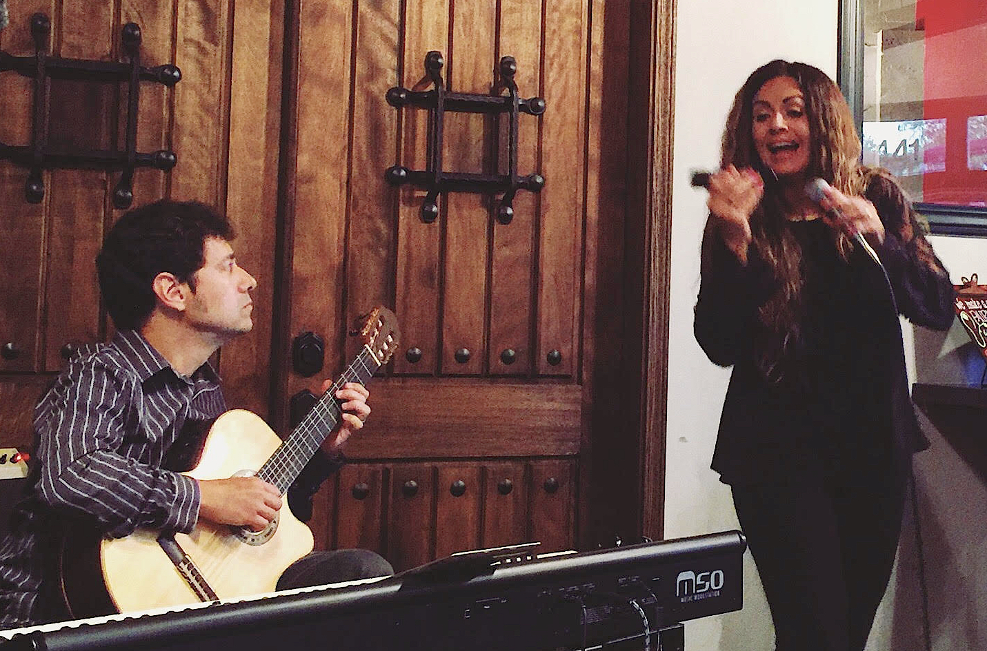 Performing in Healdsburg, CA with Brazilian singer Fabiana Passoni, September 3rd, 2016.
