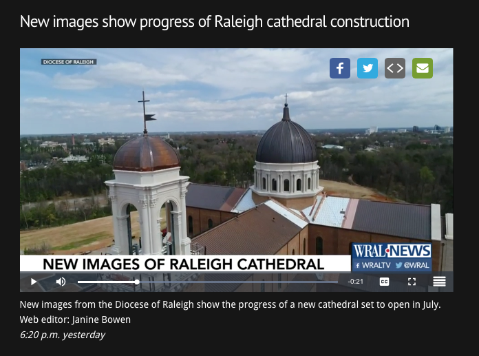New Images of Raleigh Cathedral - WRAL News, March 2017