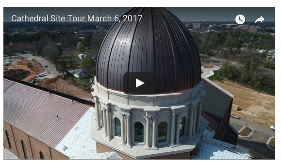 Drone Videos Highlight Cathedral Progress - Raleigh Diocese, March 2017