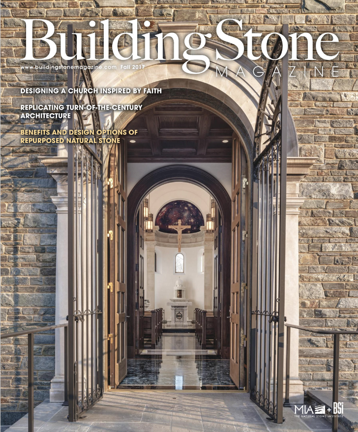 Building Stone Magazine Features Mary's Chapel - October 2017