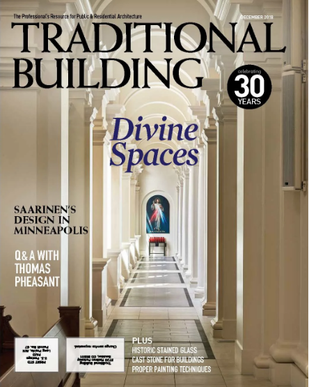Holy Name of Jesus Cathedral Design Featured in Traditional Building Magazine - Traditional Building Magazine, February 2019