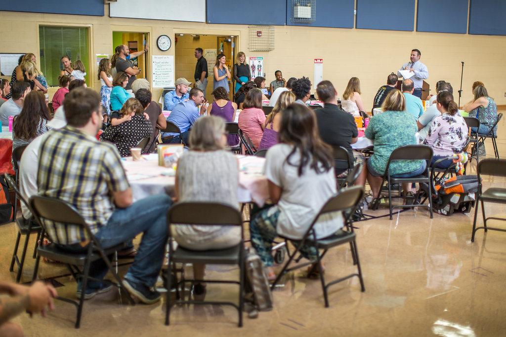 Boo Hoo Breakfast for Kindergarten Parents at Dan Mills E.S. Aug. 3, 2016; image by  Jason Bihler Photography