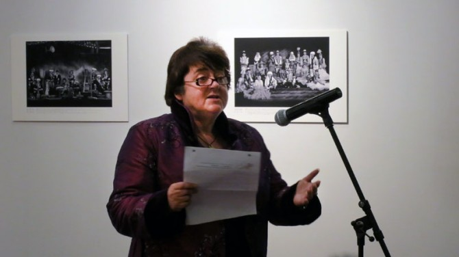 Julia Durkin, the event's director, officially opening the the 2013 Auckland Festival of Photography