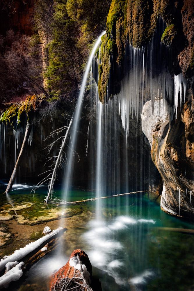 Hanging Lake, Glenwood Canyon, Colorado;Nikon D810, 24–70mm, f/16, 3s, ISO 31