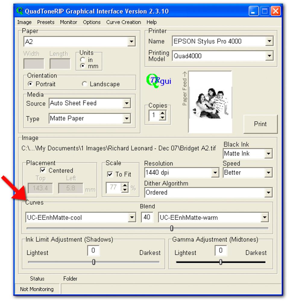 Image 12 — Roy Harrington's QuadTone RIP interface