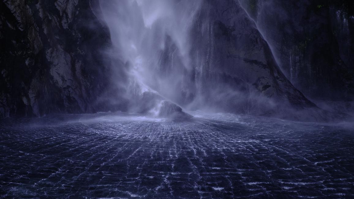 Third: Stephen Milner, Milford sound waterfall