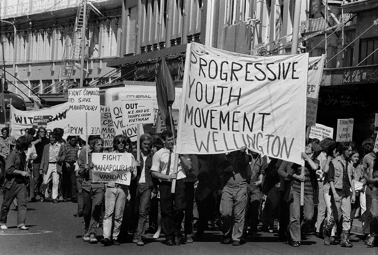 John Miller, Multi-issue protest march to parliament grounds for the opening of parliament by her majesty Queen Elizabeth II, March 1970