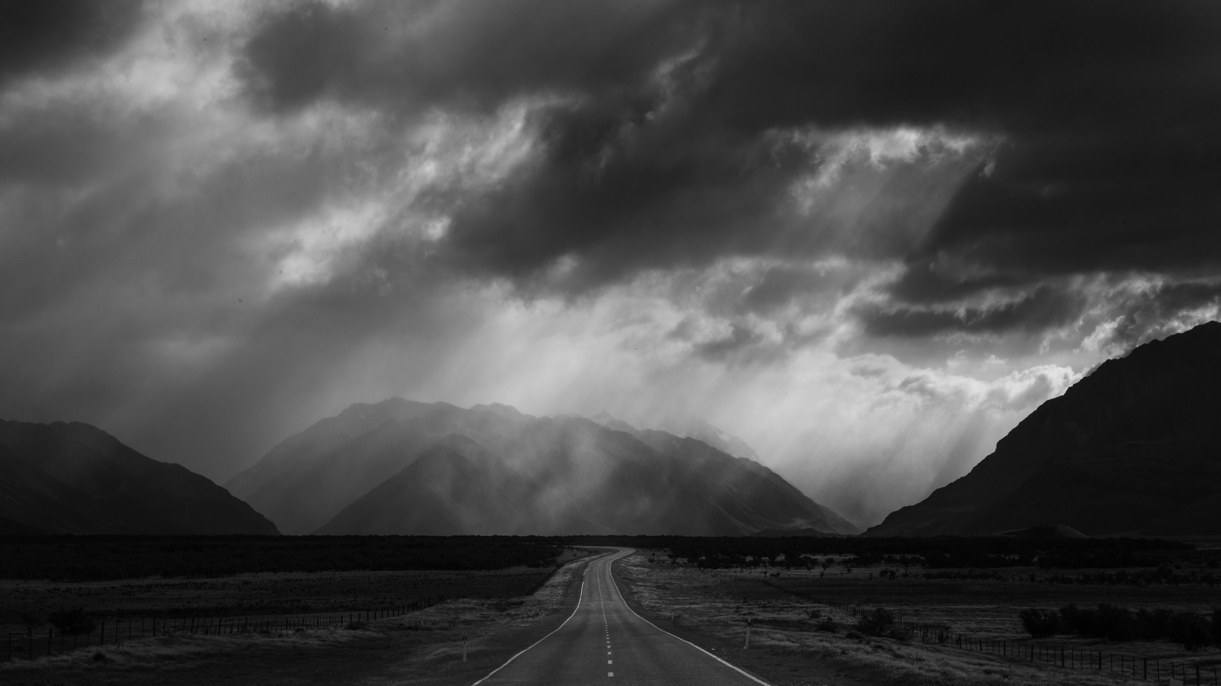 Highway Storm, Geoff Cloake, Eric Young Memorial Trophy and PSNZ Gold Medal for Best Landscape Projected Image.