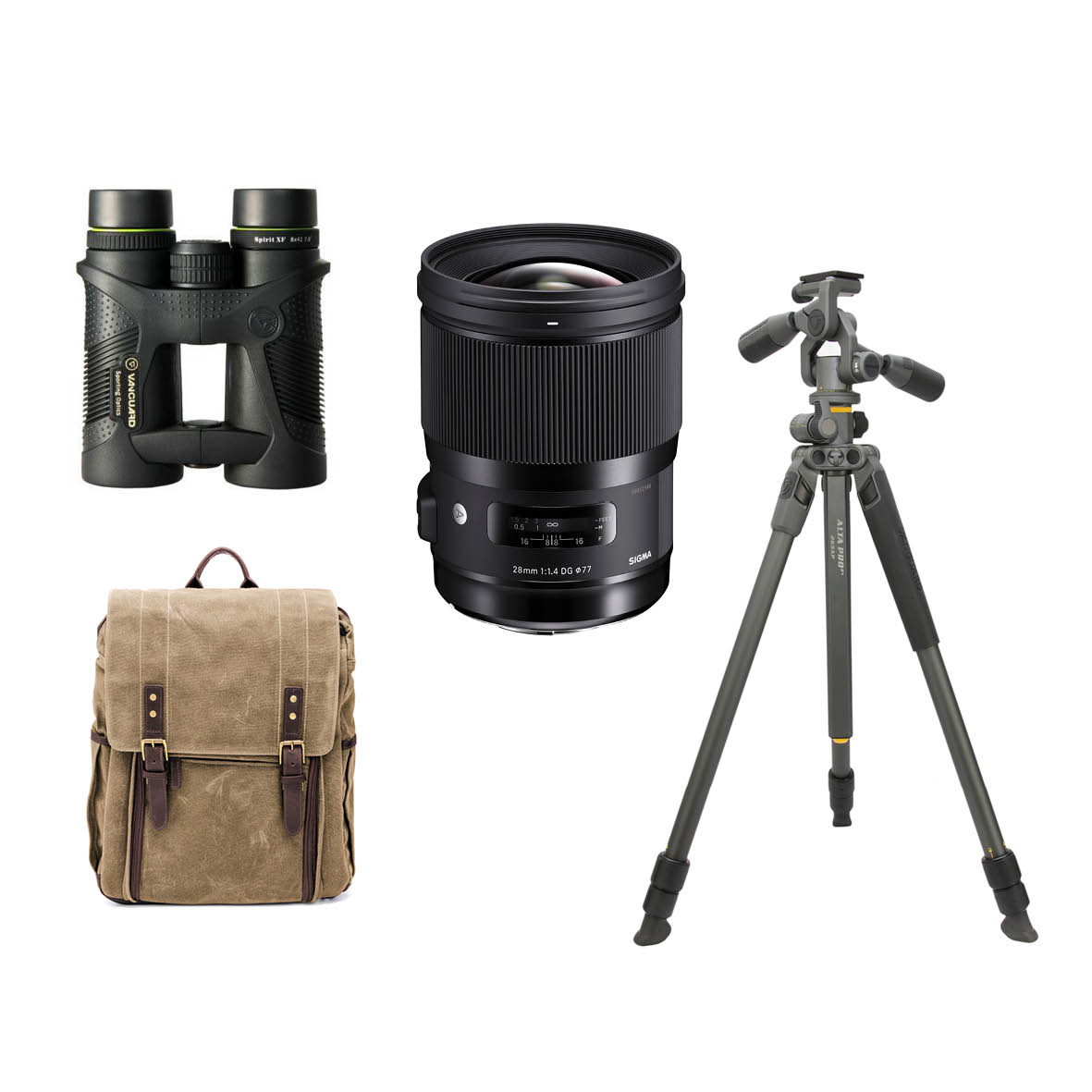 Grand Prize - Thanks to SigmaSigma 28mm f/1.4 Art lens Canon mount, worth $1999Vanguard Alta Pro 2+ 263AP Aluminium Tripod, worth $429Ona Camps Bay Backpack, worth $799Vanguard 8x42 Binoculars, worth $250
