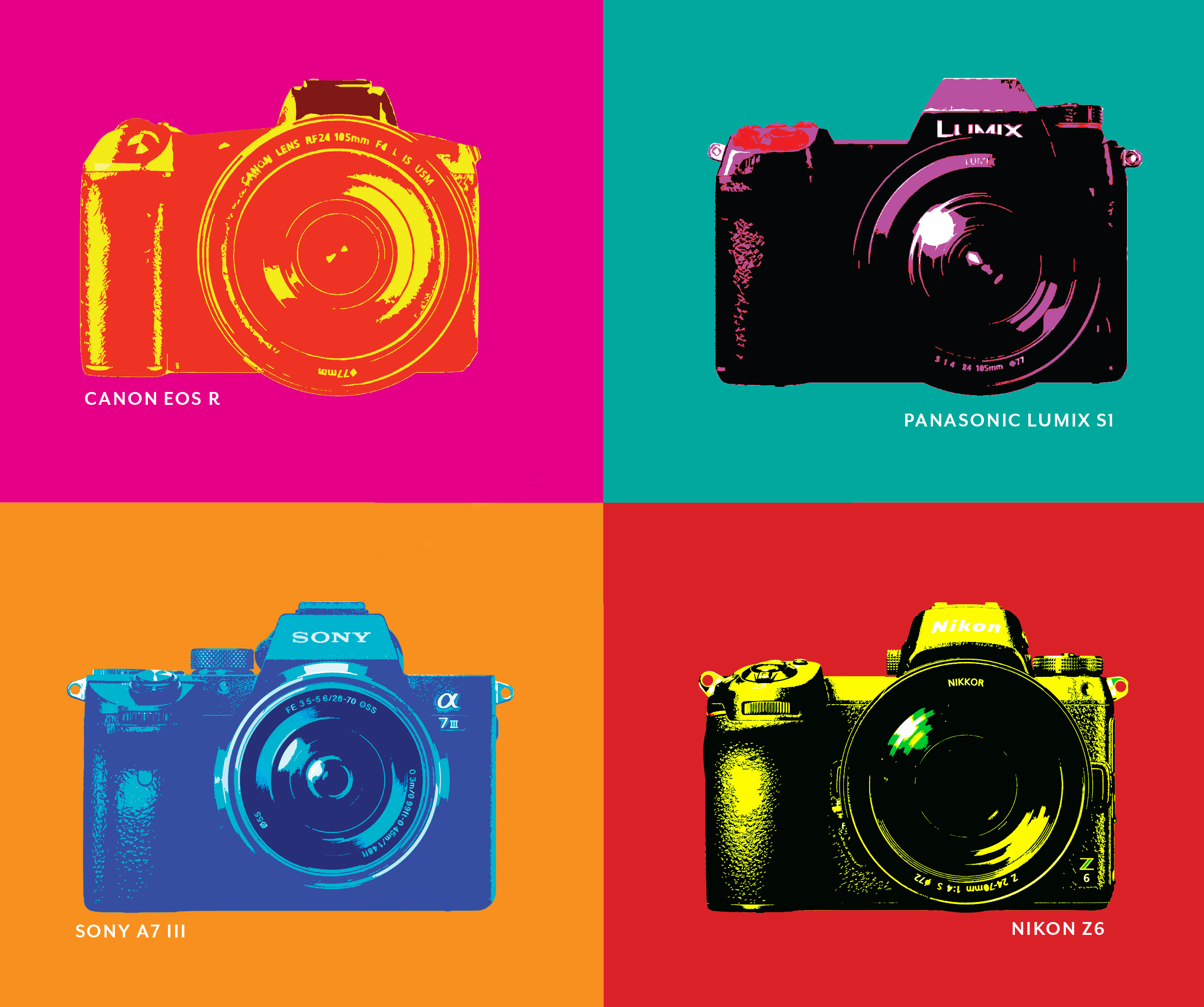 - Full-frame mirrorless showdownThe latest-and-greatest cameras from Nikon, Sony, Panasonic, and Canon face off.