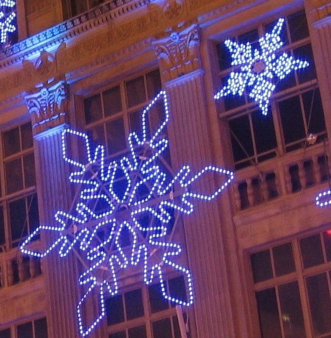 Saks Snowflake Display