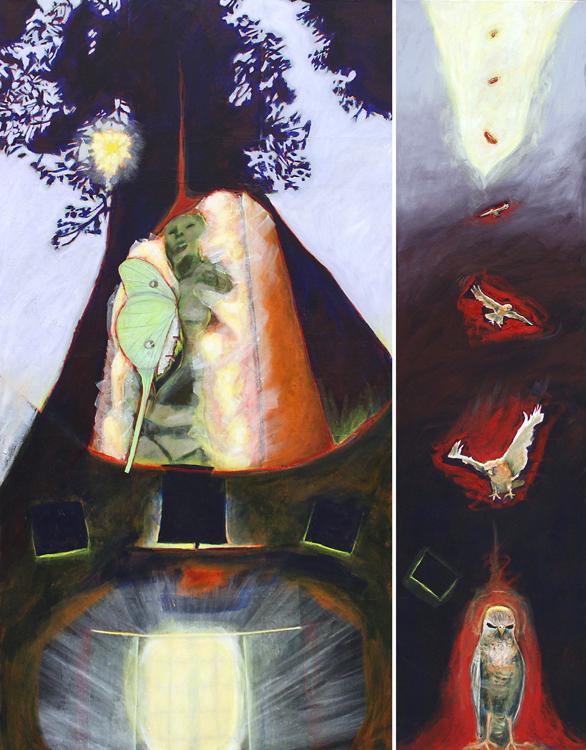 Sybil Archibald : acrylic painting