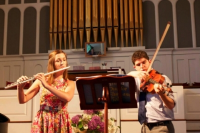 Performing with Max Aleman, viola.  Stockbridge, MA, June 2013