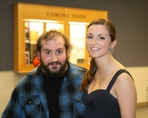 With composer and friend  Josh Oxford .  Ithaca College, March 2011