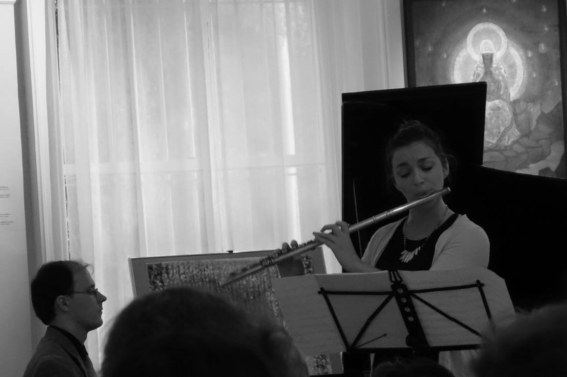 Performing with composer/pianist  Grigory Smirnov at the  Nicolas Roerich Museum  in Manhattan.  NYC, October 2014