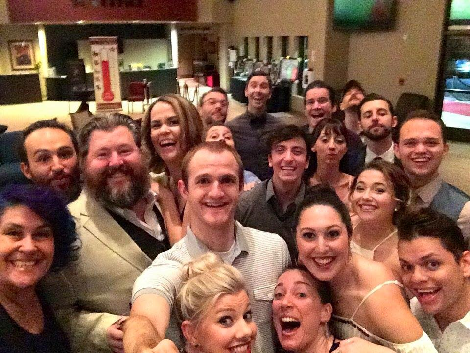 The whole cast of Fiddler at the opening night party!
