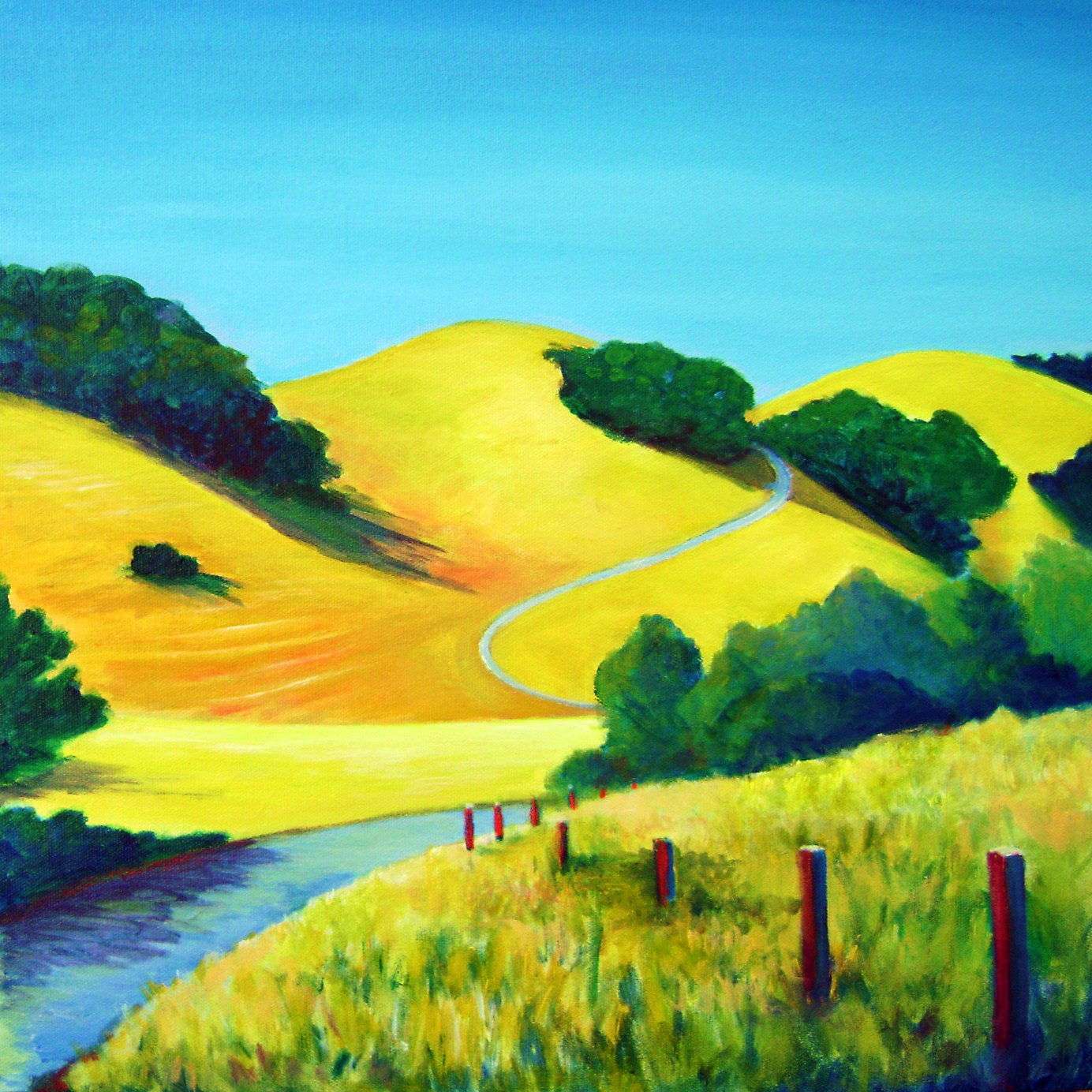 "Back Of Briones 16""x16"" $320"