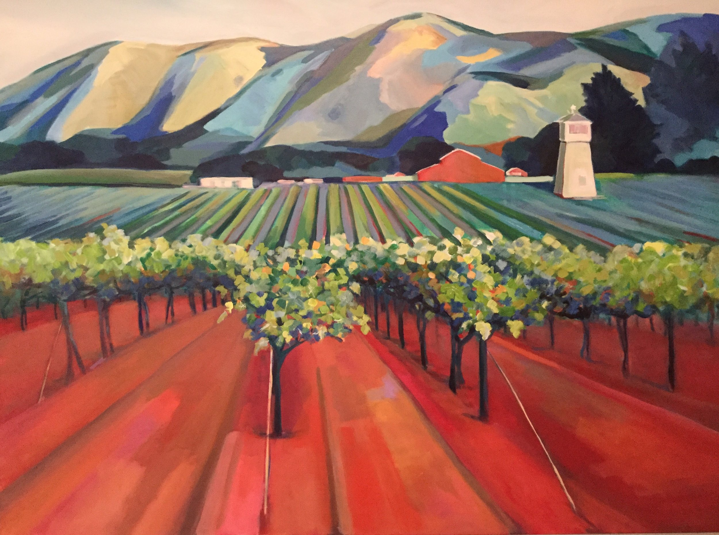 "Carmel Valley Vineyard 40""x 30"" $2400"
