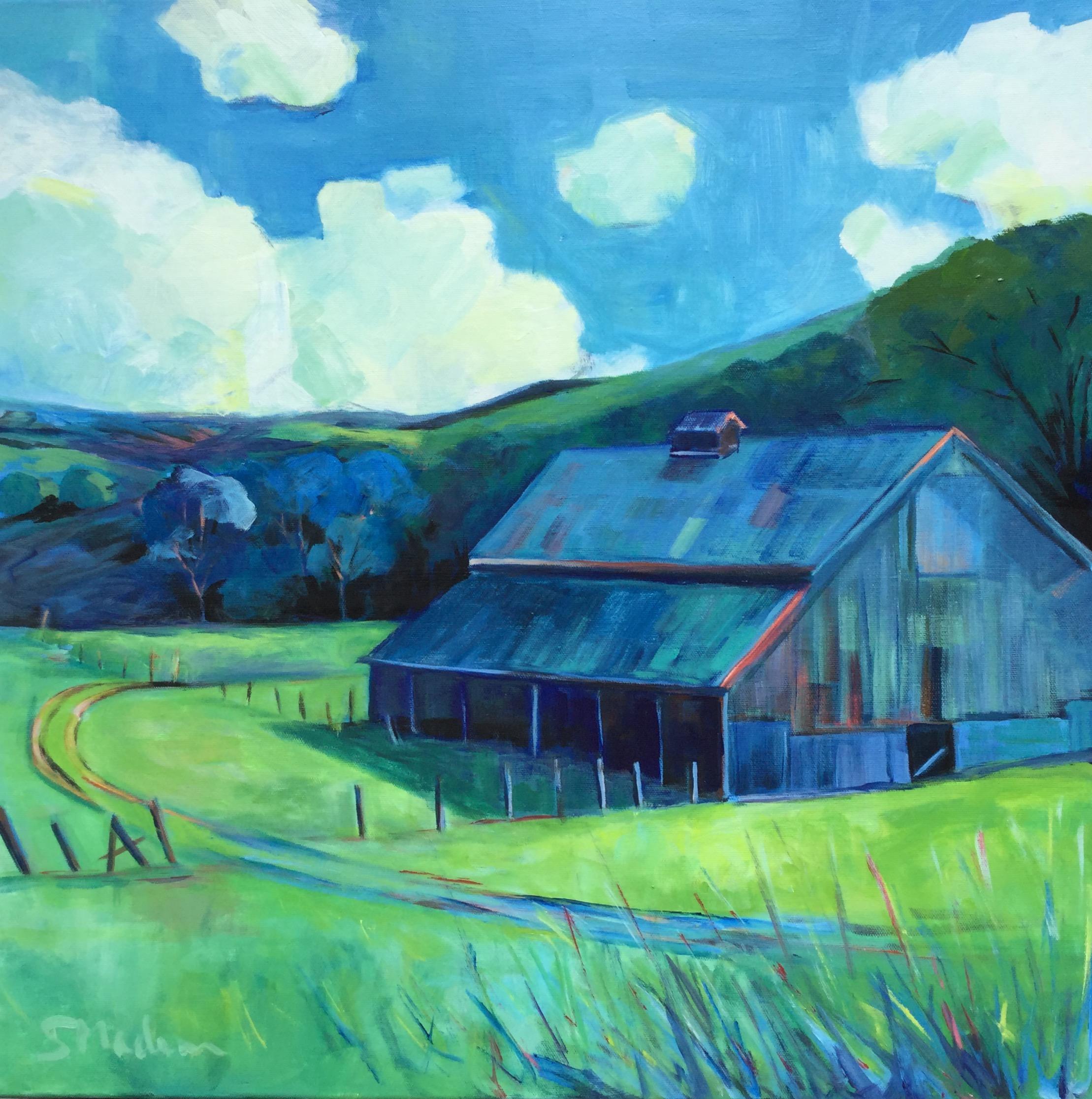 """Joseph Grant Barn 24""""x24"""" $1100"""