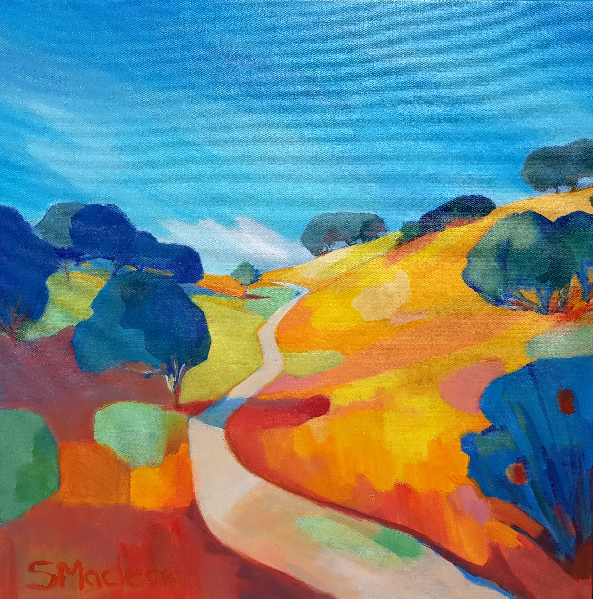 One More Hill 24x24 $1100