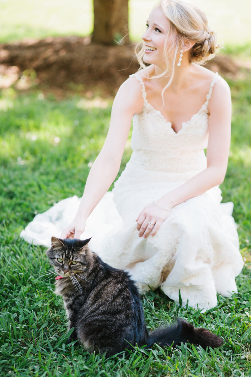 Bride with Cat
