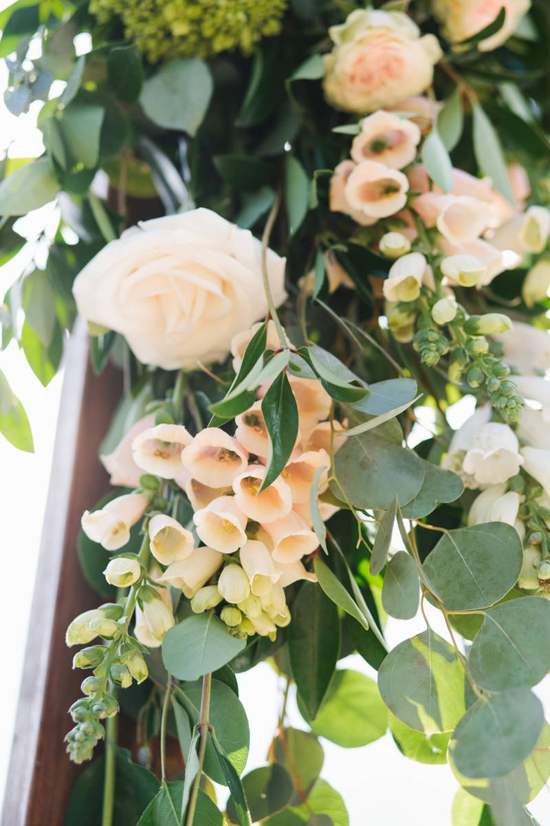 Floral Wedding Arch Detail