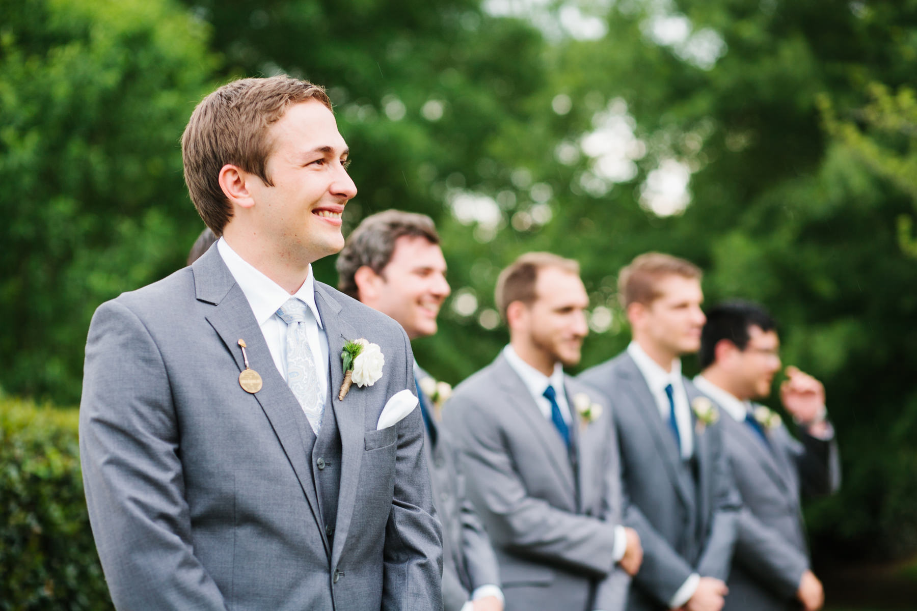 Groom Seeing Bride Walk Down Aisle