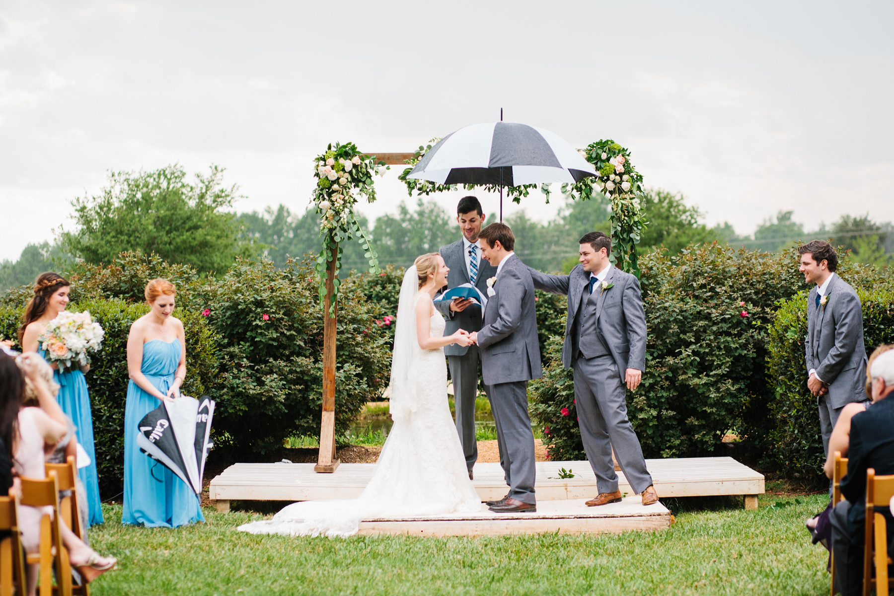 Rainy Wedding Ceremony
