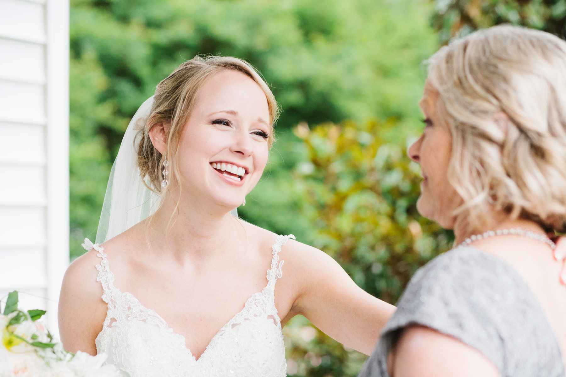 Happy Bride and Mother of the Bride