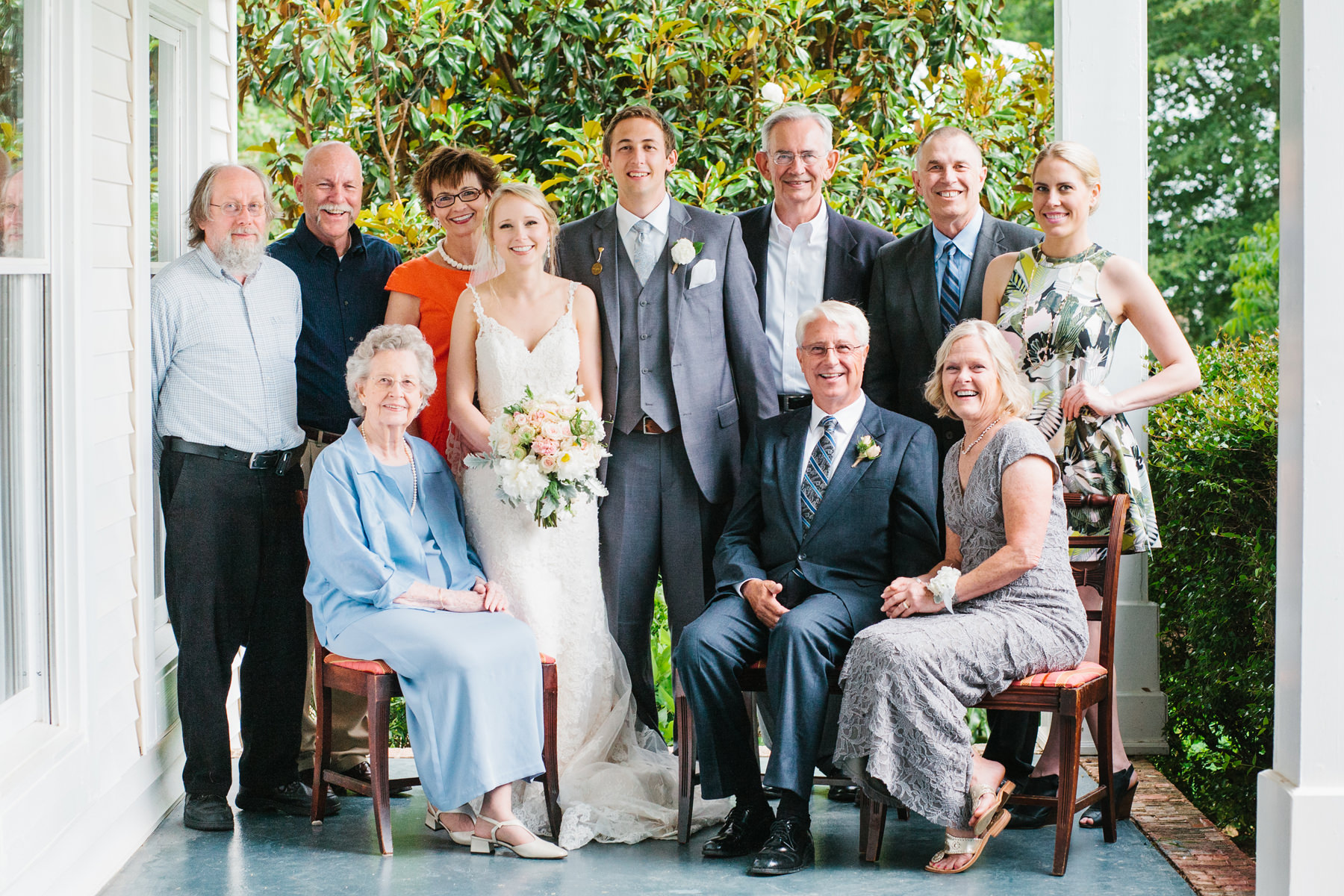 Outdoor Wedding Family Photos