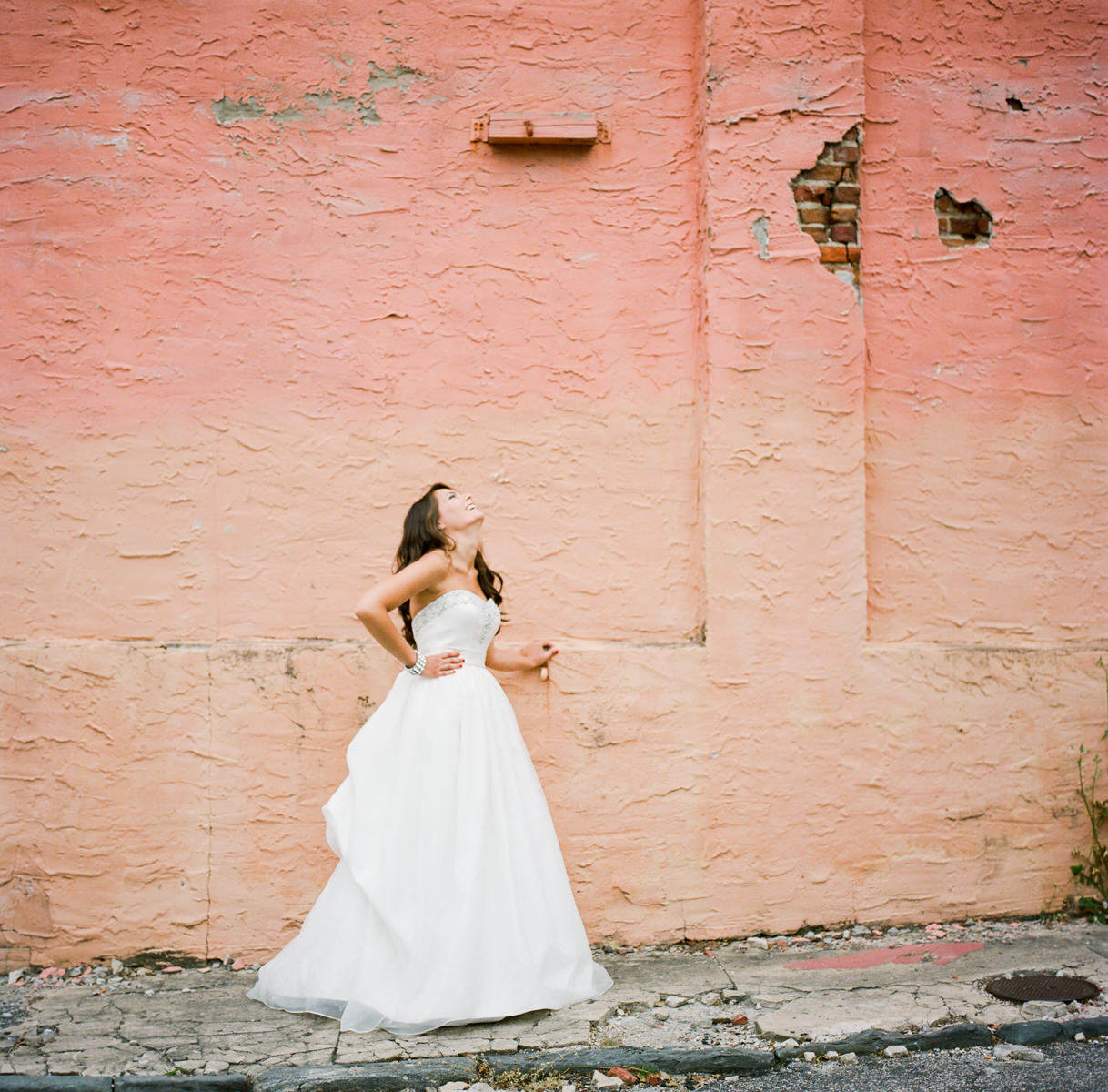Downtown Wilmington NC Bridal Session Wall