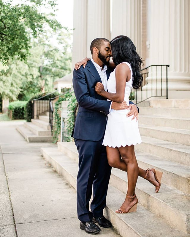These two are just perfect together!! 💕💒💍 Engagement photos on the beautiful front steps of University Baptist Church, where Alicia & Wan got engaged. . . . . . . . #incontrastimages #chapelhillengagementphotographer #chapelhillengagement #chapelhillweddingphotographer #chapelhillphotographer #northcarolinaweddingphotographer #ncweddingphotographer #ncweddingphotographers #ncweddingphotography #ncwedding #ncweddings #northcarolinawedding #triangleweddingphotographer  #raleighweddingphotographer #raleighengagement #raleighengagementphotographer #raleighengagementphotography #engagementphotos #engagementphoto #ncengagement #northcarolinaengagement #ncengagementphotographer #northcarolinaengagementphotographer #southernwedding #naturallightphotographer #lifestylephotographer #ncbride #carolinabride #hybridweddingphotographer #mastinlabs