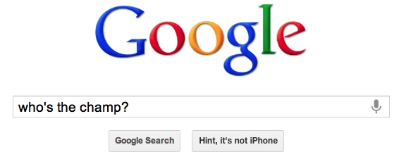 Ha ha, iPhone